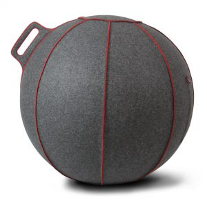 VLUV_Seating_Ball_Grey_Melange_Red